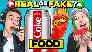 Real Vs. Fake Food Challenge | People Vs. Food