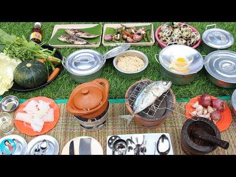 ของเล่นเครื่องครัว ของเล่นทำอาหารหม้อข้าวหม้อแกง เครื่องครัวจิ๋วทำอาหารจากเครื่องครัวจิ๋ว