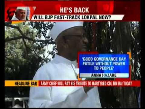 Anna Hazare threatens to launch Lokpal agitation Delhi polls