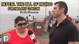 Hillary Supporters Back Repeal of Bill of Rights To Help With New World Order