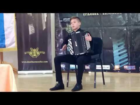 "IX me�unarodni festival ""DANI HARMONIKE"" 21-25. april 2017. Ugljevik-Bijeljina-Beograd 23. april 2017. - MILOŠ TUTI� - I NAGRADA 92,66 J. K. Fischer - Preludium i Fugue a-moll V. Bischov..."