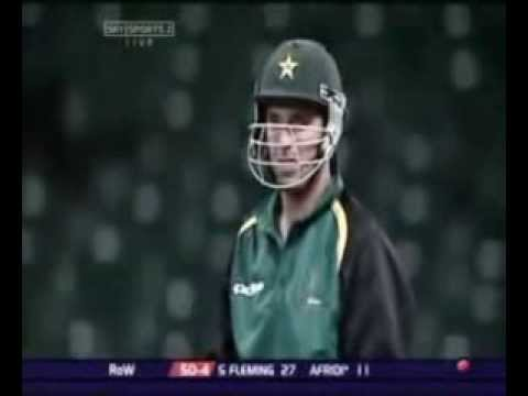 Afridi hitting 8 runs in one ball