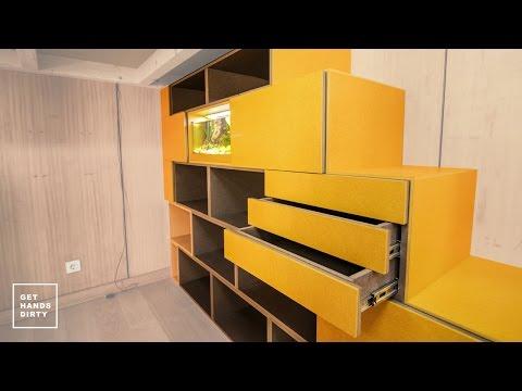 Loft Bed // Work Space : Door Fronts, Aquarium Module and Stairs - Episode 3