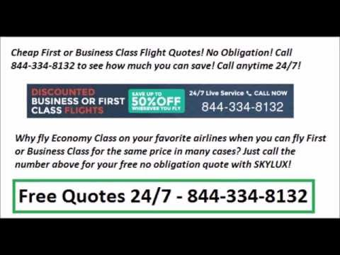 Cheapest First or Business Class Flights - 24/7 Free Quotes