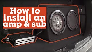 Download Lagu How to install an amp and sub in your car | Crutchfield video Gratis STAFABAND