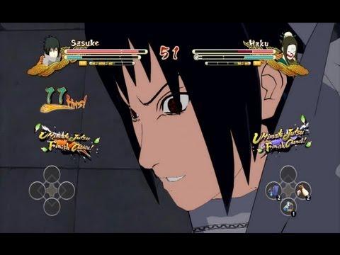 (XBOX 360) EMS Sasuke vs Masked Haku Naruto Ultimate Ninja Storm 3
