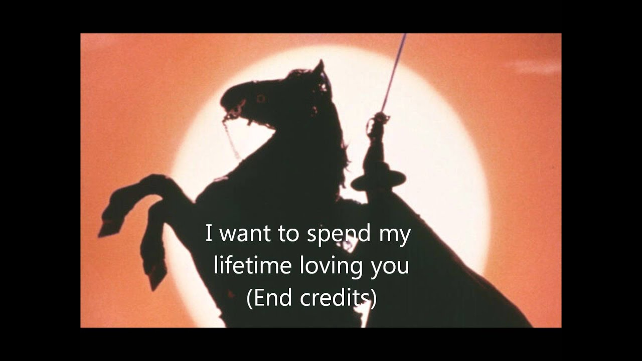 The Mask of Zorro [13] I want to spend my lifetime loving ...