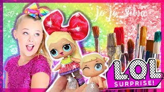 JOJO SIWA 🎀 CUSTOM LOL Surprise DOLL! BIG Sis and LIL' Sis ! - DIY / TUTORIAL