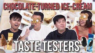 WE TRIED MALTESERS, SNICKERS, & TOBLERONE ICE-CREAM!  | Taste Testers | EP 107