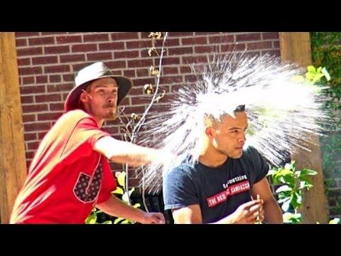 Throwing Water Balloons at People Prank