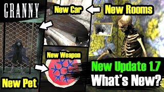 Granny 1.7 Update, New Weapon, New Rooms, New Car & More | in Hindi | BlackClue Gaming