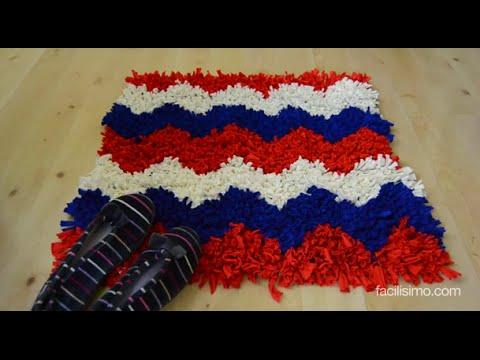 C mo hacer una alfombra de trapillo youtube - Como hacer alfombras de nudos ...
