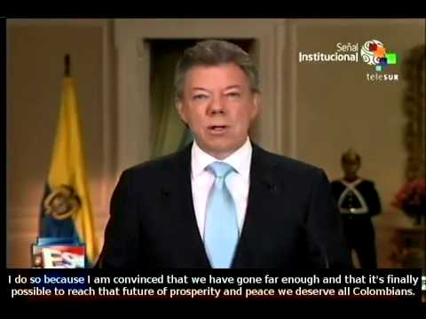 Colombian President Juan Manuel Santos to seek reelection in 2014