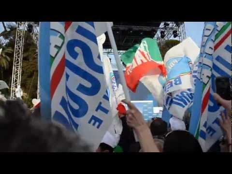 Gente della Libertà – Inno 2013 PDL – Roma Piazza del Popolo 23-03-2013