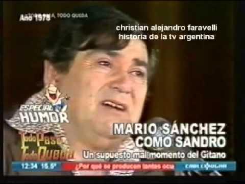 HISTORIA DE LA TV ARGENTINA: EL ACTOR MARIO SÁNCHEZ COMO EL GITANO SANDRO / 1978