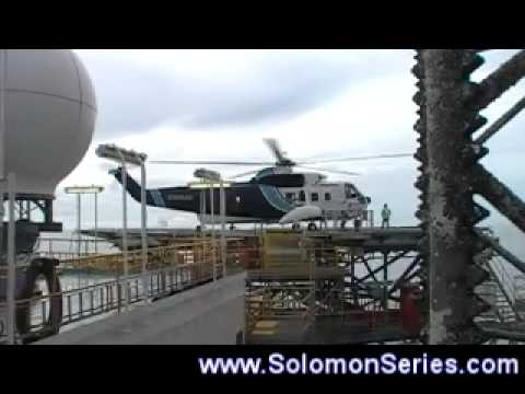 Large Helicopter take-off and landing: S61 Sikorsky Offshore Australia