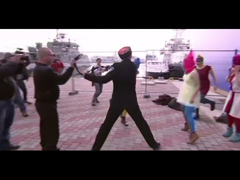 Pussy Riot 'Whipped' By Cossacks Patrolling Sochi Winter Olympics