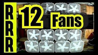 FAN NOISE = 12 FANS for 12 HOURS = BOX FANS GALORE for FAN WHITE NOISE