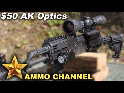 The $50 AK Optics Upgrade - Budget Tactical Scope & Mount AK 47 Assault Rifle WASR Saiga Cheap