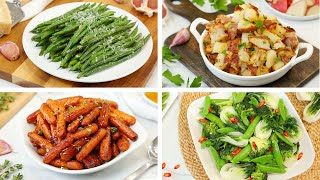 4 Healthy Side Dishes | Easy + Delicious Weeknight Dinner Recipes