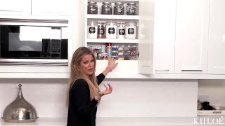 [FULL VIDEO] Khloe Kardashian | Organizing My Baking Cabinet and Spices | KHLO-C-D