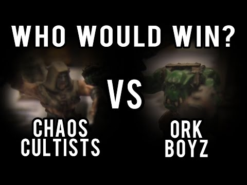 Orc Boyz vs Chaos Cultist Warhammer 40k Battle Report - Who Would Win Ep 41