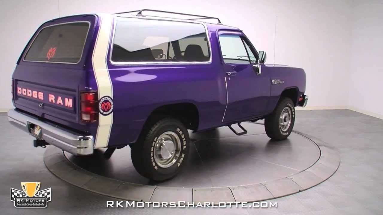 132508 / 1990 Dodge Ramcharger 150 - YouTube