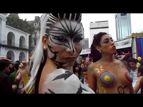 XXII Marcha del Orgullo LGBTIQ, 2013 - Drag queen y travestis con body painting