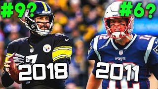 Ranking The 10 BEST Seasons For NFL Quarterbacks Over The Past Decade (2009-2018)