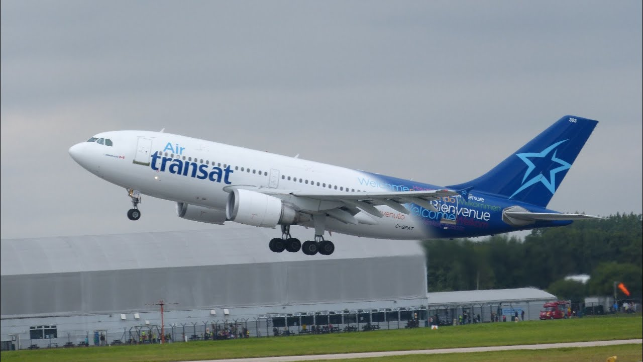 air transat a330 and a310 departing manchester 23rd july 2014