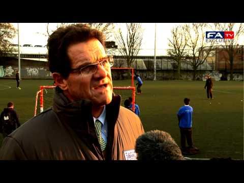 Fabio Capello attends Street League match-day tournament
