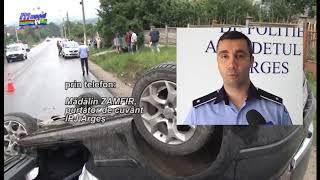 Jurnal Muscel TV  21 06 2018 - accident c-lung masina rasturnata  - madalin zamfir , manuela serban