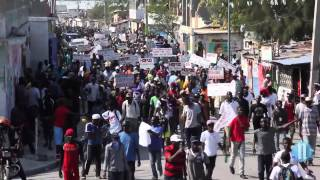 VIDEO: Haiti - Moise Jean-Charles di Manifestation kont MINUSTAH, pa kont Martelly selman
