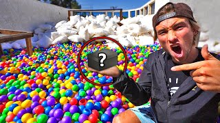 First to find VALUABLE ITEM keeps it! *100,000 Ball Pit Scavenger Hunt*