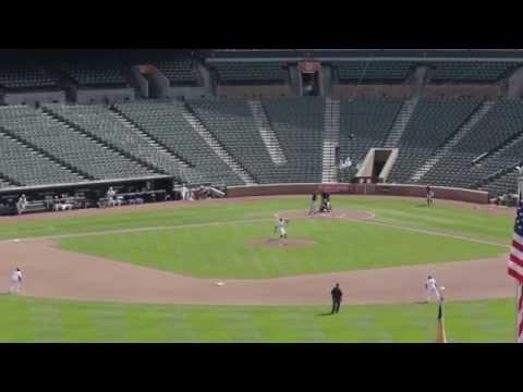 Baltimore Orioles play in empty ballpark