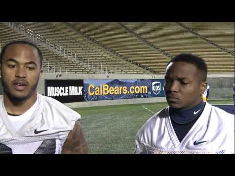 Cal Running Backs Darren Ervin and Jeffrey Coprich speak with calbears.com after practice on Wednesday, February 27, 2013.