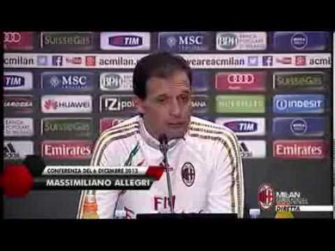 AC Milan I Allegri: 'Restiamo con i piedi per terra' (with subtitles)