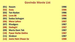 Govinda Movies List