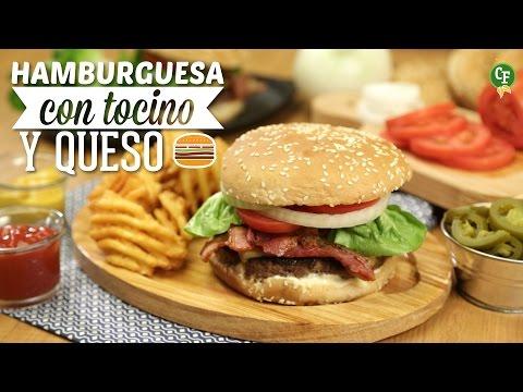 ¿Cómo preparar Hamburguesa con Tocino y Queso?-Cocina Fresca