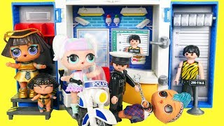 LOL SURPRISE Heartbreaker Family Visit Police Station for Punk Boy in Jail | Fun Toys for Kids