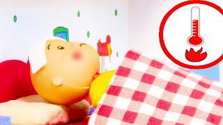 🌡 Caillou has High Fever 🌡 | Funny Animated Kids show | Caillou Stop Motion