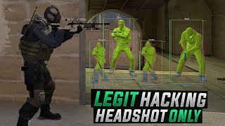 CS:GO | LEGIT HACKING AGAINST RAGE HACKER // SCOUT HEADSHOT ONLY! #Overwatch