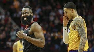 Luke Walton Ejected! Harden 48 Points vs Lakers! 2018-19 NBA Season