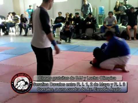 estrangulamiento con rodilla en la nuca  Brian Torales VS David Centurion