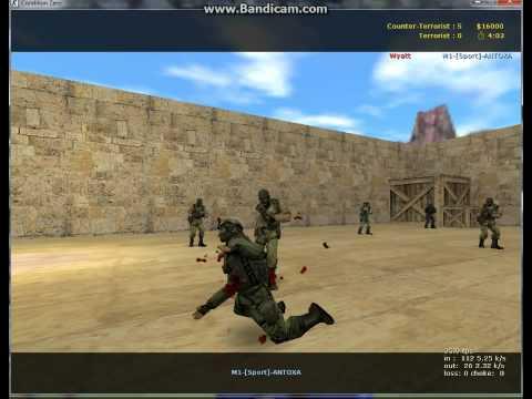 Вспоминаю Counter Strike 1.6( На ножах против ботов) Черемхово 2013