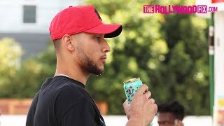 Ben Simmons Is Asked About Texting Tinashe At The Club With Kendall Jenner While Fueling Up
