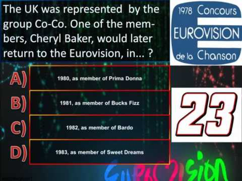 Eurovision Trivia Quiz *Question 23: 1978* klip izle