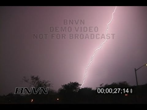 7/13/2005 Extreme lightning video at night
