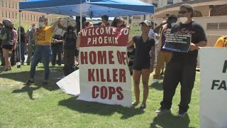 Protesters demand defunding the Phoenix Police Department