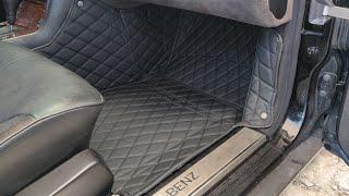 Diamond leather car mat install 1995 Mercedes s500 w140 VIP build diamondcarmats.com